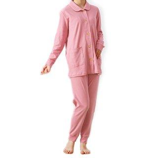 ロマンス小杉 ヒートコットン レディースパジャマ ピンク Mサイズ 冬物 日本製 綿100% 吸湿 発熱