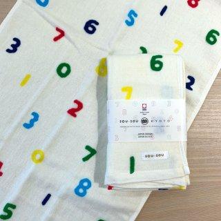 SOU・SOUの今治タオル フェイスタオル(ガーゼ×パイル)/SO-SU-U 五色(ごしき)日本製