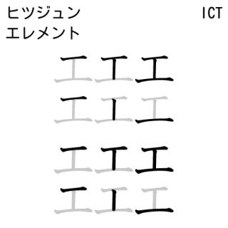 モトヤICT 筆順・エレメント