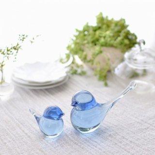 幸せの蒼いとりさん 大 庵治石ガラス/瀬戸内ブルー/Aji Glass【香川県/Rie Glass Garden】
