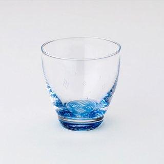 【青森県/白神ガラス工房】こぎん硝子セット(グラス・コースター・巾着)