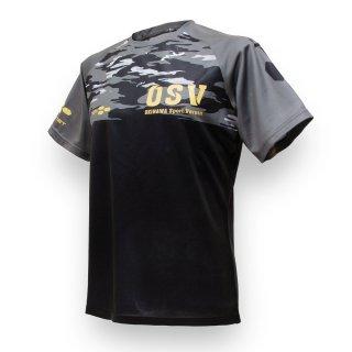 沖縄SV(OSV) ドライTシャツ 迷彩 ブラック