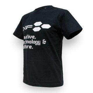 Tシャツ XF03 ロゴ ブラック
