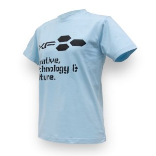 Tシャツ XF03 ロゴ サックス
