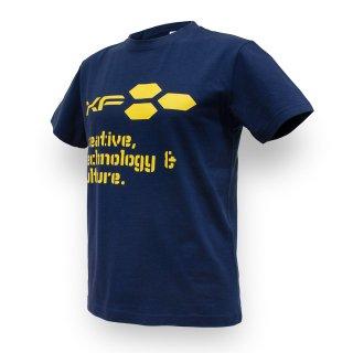 Tシャツ XF03 ロゴ ネイビー