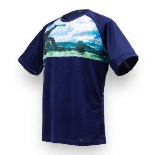 Tシャツ XF10 FOOTRACK ネイビー