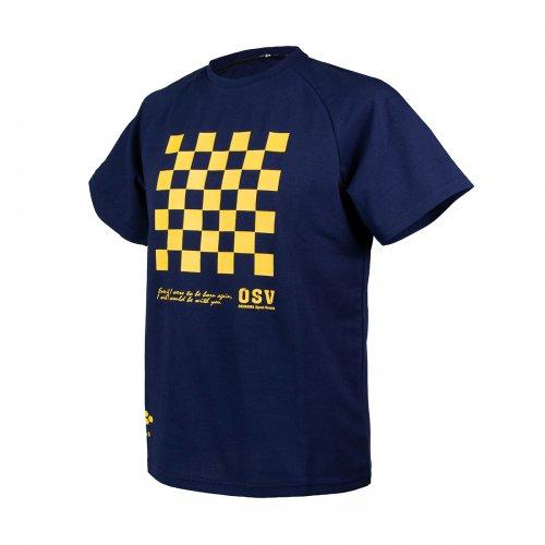 <img class='new_mark_img1' src='https://img.shop-pro.jp/img/new/icons6.gif' style='border:none;display:inline;margin:0px;padding:0px;width:auto;' />沖縄SV(OSV) Tシャツ 五四柄 ネイビー