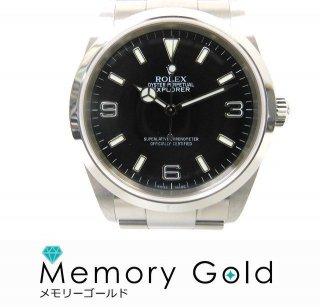 ロレックス エクスプローラー1 Ref114270 F番 黒文字盤 メンズ腕時計 正規品 中古 本体のみ A34307