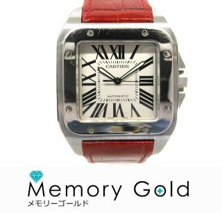 Cartier カルティエ サントス100 W20073X8 メンズ腕時計 正規品 付属あり 中古 A15764