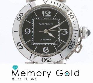 カルティエ W31077M7 パシャ シータイマー 美品 正規品 箱 説明書 あまりコマあり メンズ腕時計 A22636