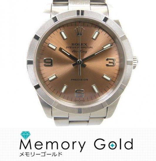 sports shoes 5b526 57363 ROLEX ロレックス エアキング Ref14010M A番 中古品 メンズ 腕時計 管理A22739 - オンラインストア MemoryGold