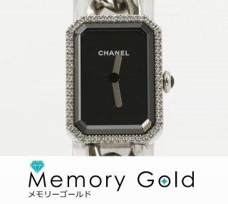 CHANEL シャネル プルミエール H3254 ダイヤベゼル 黒文字盤 正規品 付属あり 中古 良品 管理A23302