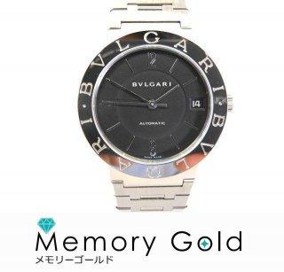 BVLGARI ブルガリ BB33SS 自動巻き ステンレス 黒文字盤 メンズ腕時計 付属あり 正規品 ギャラあり A35034