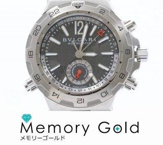 ブルガリ ディアゴノ DP42SGMT 正規品 メンズ 腕時計 国際保証書 箱あり 良品 写真参照 管理A33801