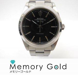 ROLEX ロレックス エアキング Ref14000 P番 メンズ腕時計 正規品 黒文字盤 中古 自動巻き AK15668