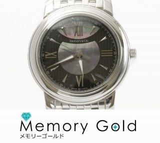 ♪ティファニー メンズ腕時計 マーク Z0046.17.10A90A クオーツ時計 ブラック ステンレス 写真参照 正規品 管理A34381