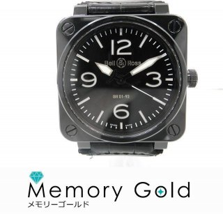 Bell&Ross ベル&ロス BR01ー92 メンズ腕時計 セラミック ブラック 美品 正規品 付属あり A15766