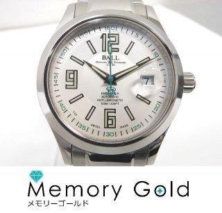 BALL ボールウォッチ エンジニア NM1020C−S4J−WH 自動巻き 白文字盤 メンズ 腕時計 正規品 良品 A39084