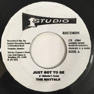 THE MAYTALS/JUST GOT TO BE