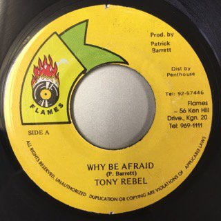 TONY REBEL/WHY BE AFRAID