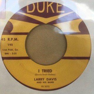 LARRY DAVIS/I TRIED
