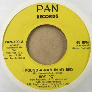 Roy C/I found a man in my bed