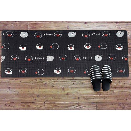 フェイスリピートキッチンマット(M)ブラック 45×120cm 716305 PG