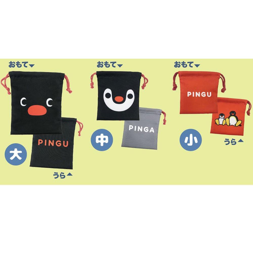 ピングー <img class='new_mark_img1' src='https://img.shop-pro.jp/img/new/icons58.gif' style='border:none;display:inline;margin:0px;padding:0px;width:auto;' />3P巾着(お顔ピングー)PNGM-021  PG