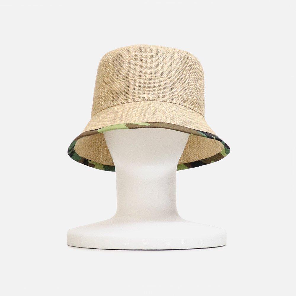TSUYUMI Jute x Camo Bucket Hat