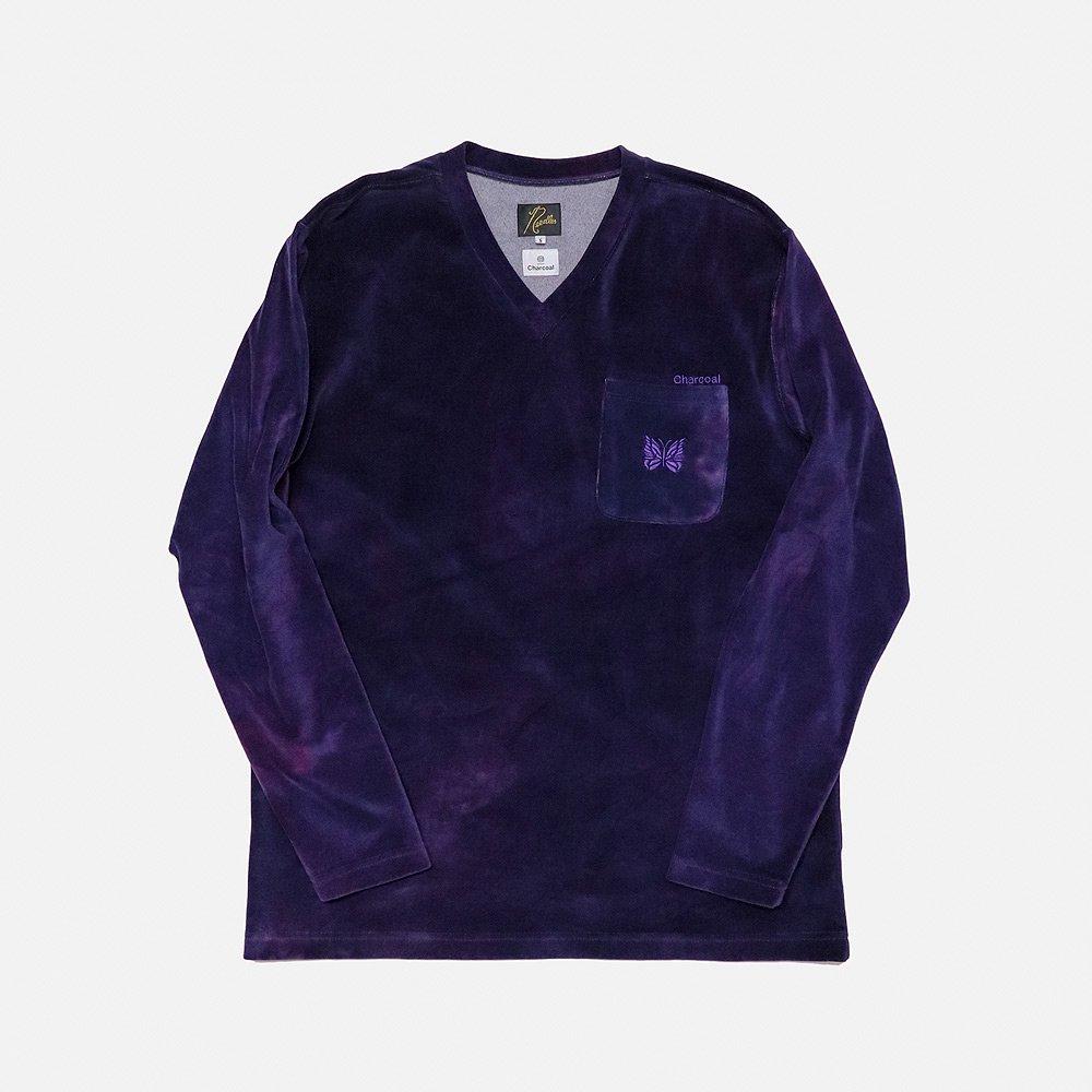 ND Uneven Dye L/S V Neck
