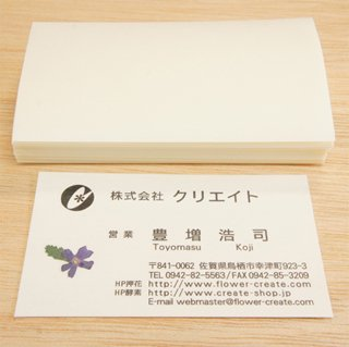 名刺用フィルム 6×10.5� 100枚