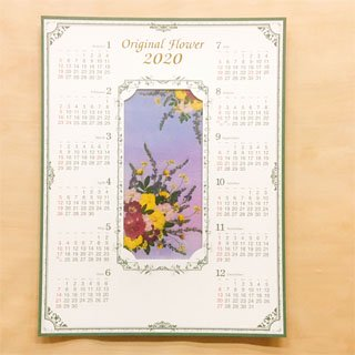 カレンダー用花セット バラのカレンダー デザインセット