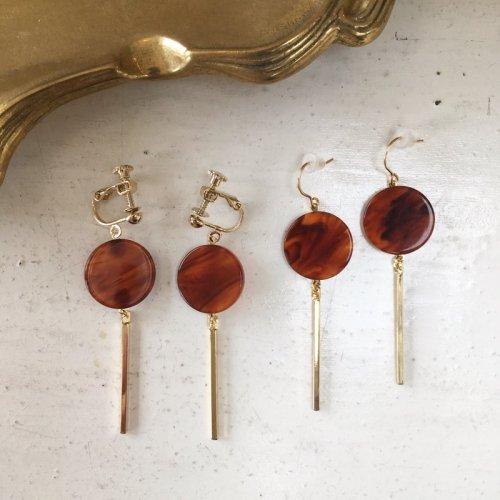 Bekko stick earring