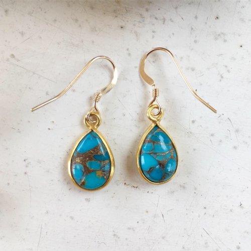 Blue Copper Turquoise pierce