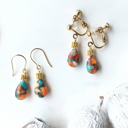 Oyster Copper Turquoise short pierce