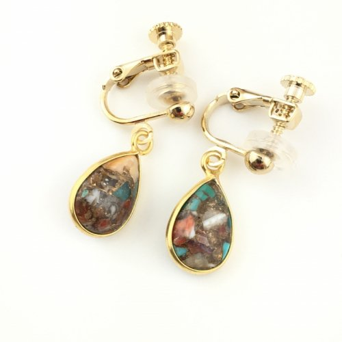 Oyster Copper Turquoise earring
