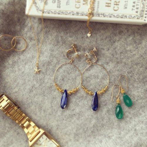 Lapislazuli Hoop earring