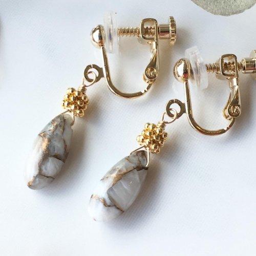 Copper calcite earring