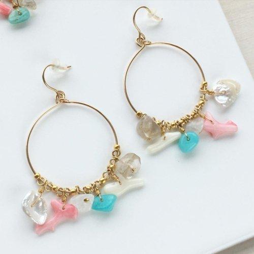 Sea Mix Hoop earring