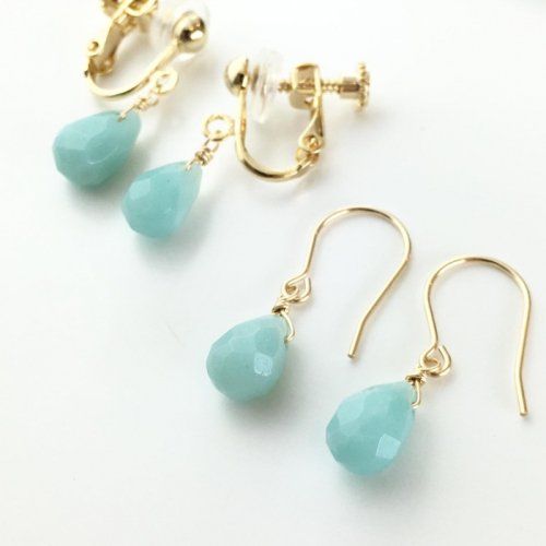 Amazonite short earring