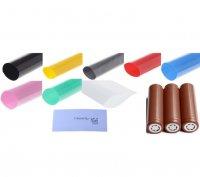 【即納】18650バッテリー被膜リラップ用 スリーブ 1枚単位販売 PVCシュリンクチューブラップ★18650 Battery Sleeve PVC Heat Shrinkable Tube Wrap