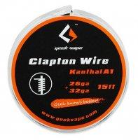 【即納】Geek Vape Atomizer DIY Clapton Wire KA1 26GA+32GA 15ft★ギークベイプ 26ゲージ+32ゲイジ クラプトン カンタルA1 ワイヤー