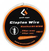 【即納】Geek Vape Atomizer DIY Clapton Wire 26GA Ni80+32GA KA1 15ft★ギークベイプ クラプトン ニッケル80+カンタルA1 ワイヤー