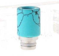 【即納】VAPE用 トルコ石製 ドリップチップ 22.7mm★Turquoise + Stainless Steel 510 Drip Tip【1926402】