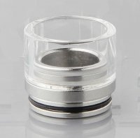 【即納】VAPE Tobh Atty v2 RDA用 ステンレス+ガラス製 超ワイドボア ドリップチップ 20mm【2403600】