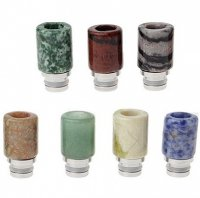 VAPE用 翡翠製 ドリップチップ 22.7mm★Jade + Stainless Steel 510 Drip Tip【1985402/1985400】