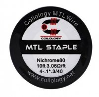 【在庫あり★即納可能】Coilology Ni80 MTL Staple Wire 4-.1*.3/40Ga 10ft★コイロロジー ニクロム80 ステイプル ワイヤー 約3m