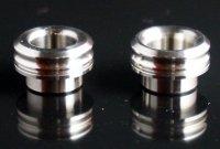 【即納】KEMURI PRODUCT製 810スレッド drip tip 2mmショート SSシルバー ストレートタイプ/テーパータイプ★VAPE用 爆煙型ドリチ★ベイプ(電子タバコ) ドリップチップ