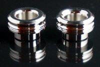 【即納可能】KEMURI PRODUCT製 810スレッド drip tip 2mm ショート Rhodium(ロジウム) ストレートタイプ/テーパータイプ★VAPE用 爆煙型ドリチ ドリップチップ