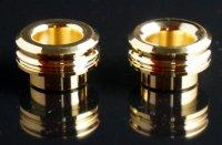 KEMURI PRODUCT製 810スレッド drip tip 2mm ショート ゴールド(24K)ストレートタイプ/テーパータイプ★VAPE用 爆煙型ドリチ ドリップチップ
